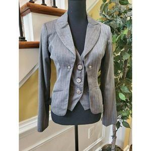 Grass Collection Women Gray Blazer S